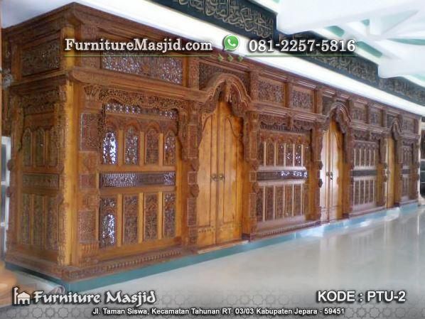 Pintu Gebyok Masjid Kusen Jati Ukir Furniture Masjid