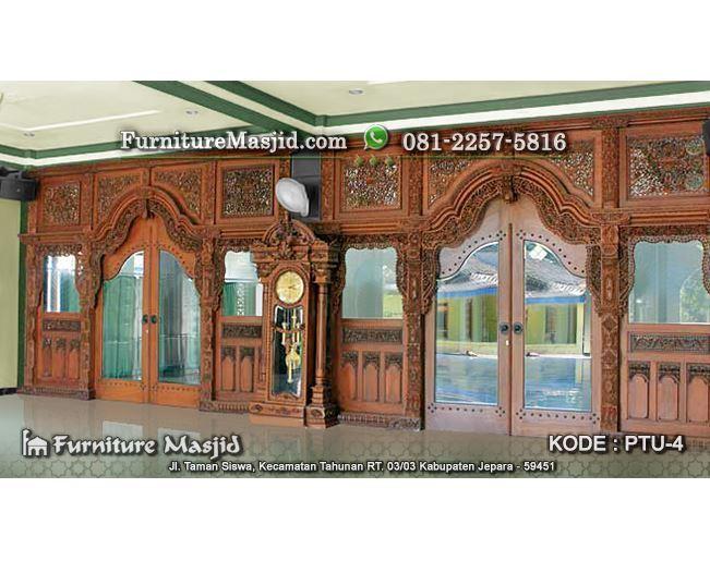 Gebyok Pintu Masjid Ukir Jepara Kusen Furniture Masjid
