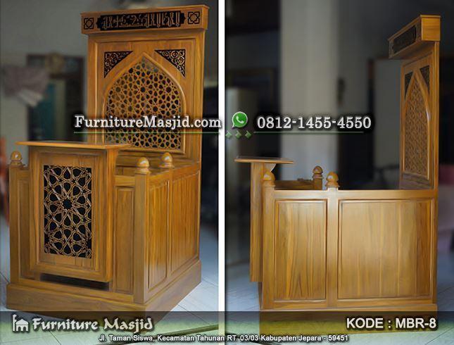 Mimbar Masjid Minimalis Harga Murah Furniture Masjid