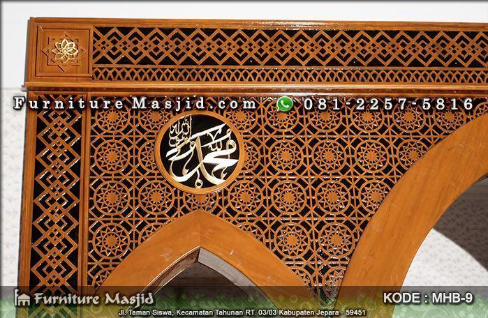 Contoh Mihrab Masjid Furniture Masjid Produsen Mihrab Pintu