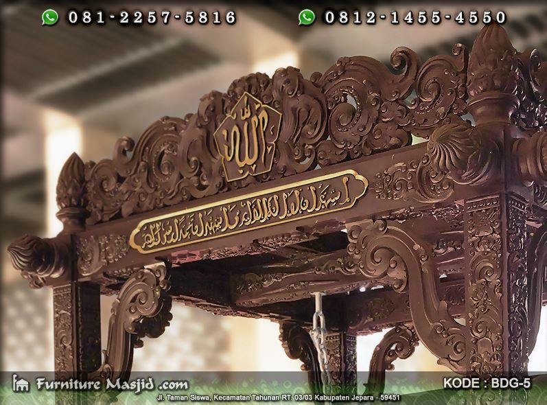 Contoh Bedug Masjid Mewah Furniture Masjid Produsen Mihrab