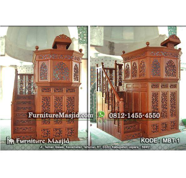 mimbar masjid mewah model timur tengah