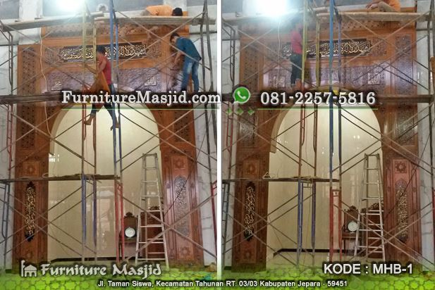 jasa pembuatan mihrab masjid kaligrafi