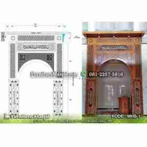 Mihrab Masjid Kaligrafi Minimalis Modern