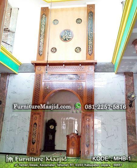 mihrab masjid kaligrafi sahabat rasulullah