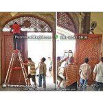pemasangan kusen pintu masjid