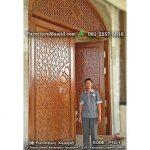 pengrajin kusen pintu masjid jati tpk