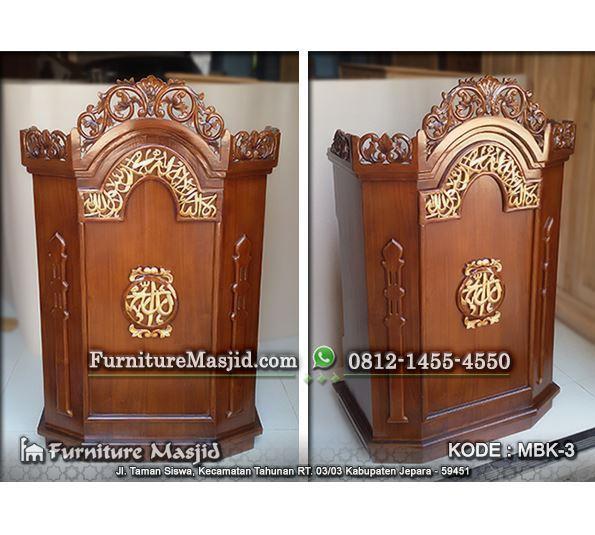 jual podium masjid kayu jati harga murah