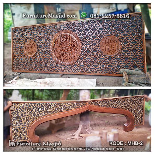 proses pewarnaan mihrab kaligrafi masjid kayu jati