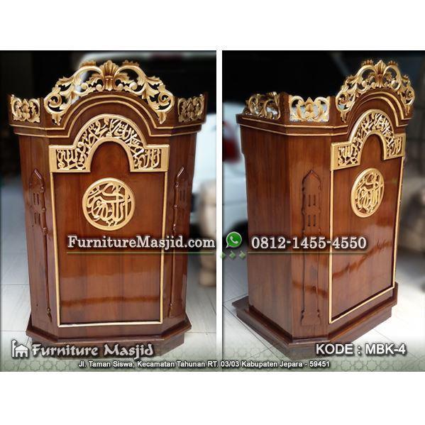 podium masjid kayu jati murah