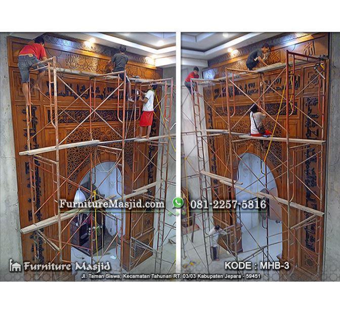 jasa pembuatan mihrab pengimaman masjid