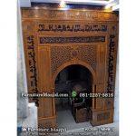 mihrab masjid kayu jati