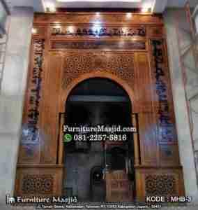 Mihrab Masjid Kayu Jati TPK Perhutani
