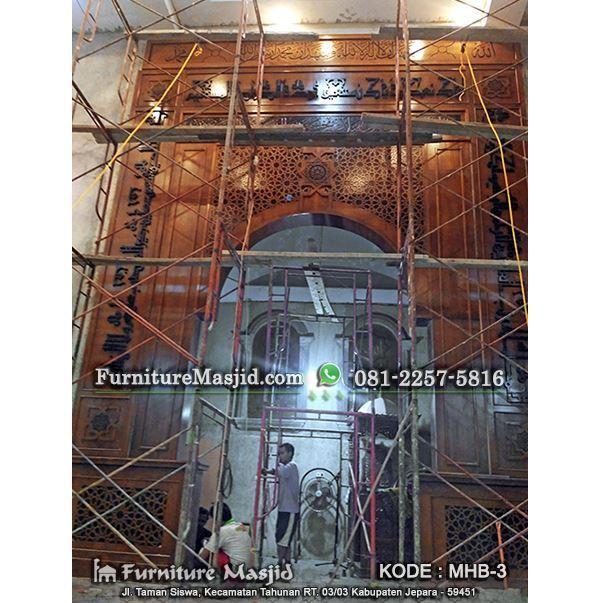 produsen mihrab masjid kayu jati
