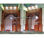 Ornamen Mihrab Masjid Kaligrafi Ukir Jati