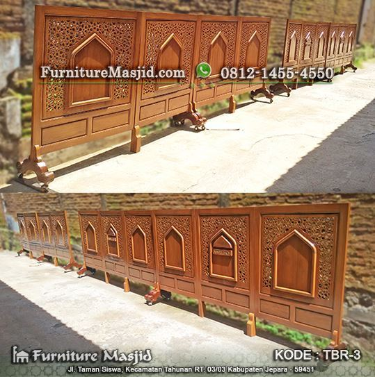 sketsel kayu jati minimalis untuk masjid