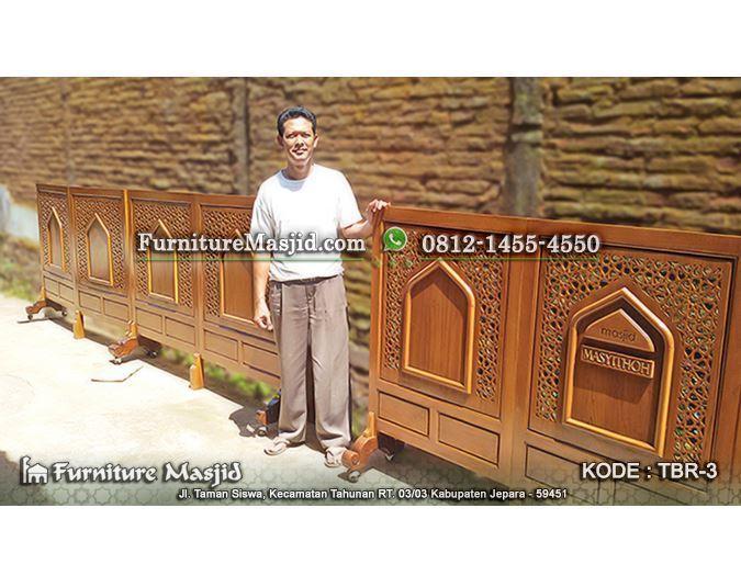 sketsel masjid dari kayu jati