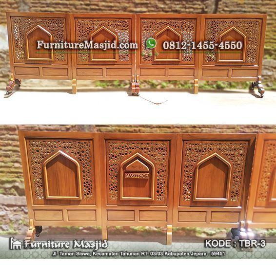 sketsel pembatas shaf masjid