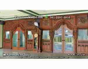 Gebyok Pintu Masjid Ukir Jepara