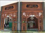 Pintu Gebyok Kaligrafi Nama Masjid