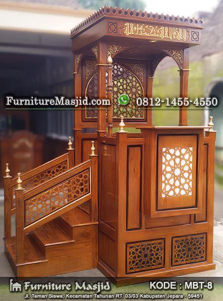 mimbar masjid minimalis arabic mewah