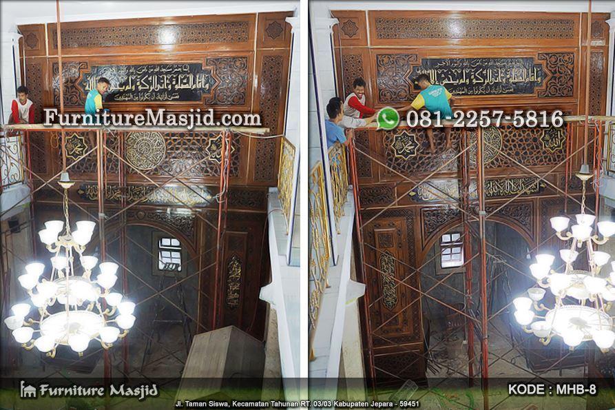 jasa pembuatan mihrab masjid kayu jati