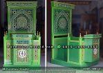 Mimbar Masjid Minimalis Mewah Warna Hijau