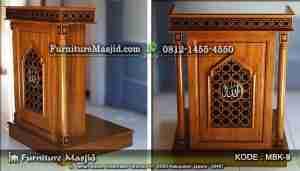 Mimbar Podium Khutbah Masjid Ukuran Kecil