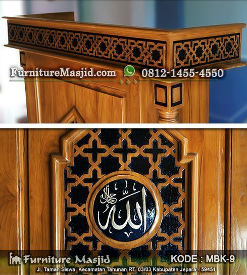 mimbar podium masjid minimalis modern