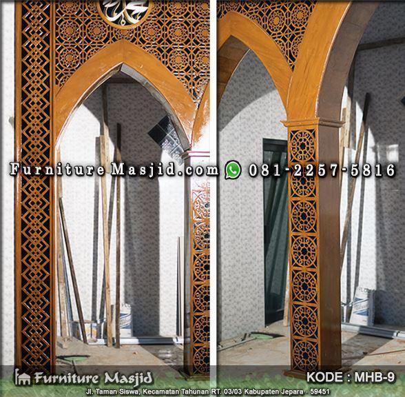 desain mihrab masjid minimalis