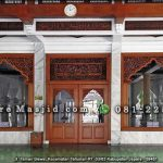 Pintu Jendela Masjid Jati Ukir Kaligrafi