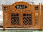 Sekat Sholat Masjid Kayu Jati Minimalis