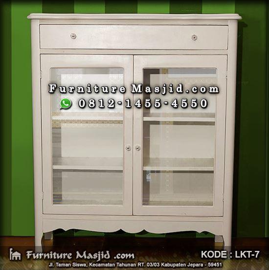 lemari rak alquran cat duco warna putih