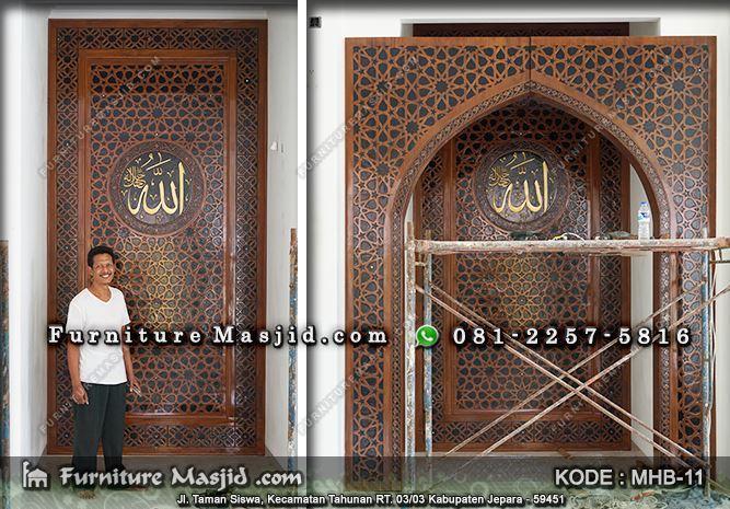 kaligrafi mihrab pengimaman mushola