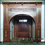 Dekorasi Pengimaman Masjid Kayu Jati