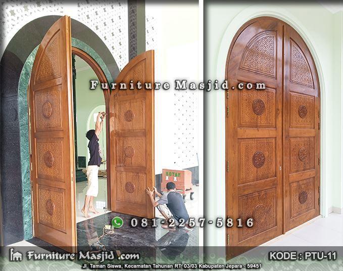 pemasangan pintu masjid minimalis