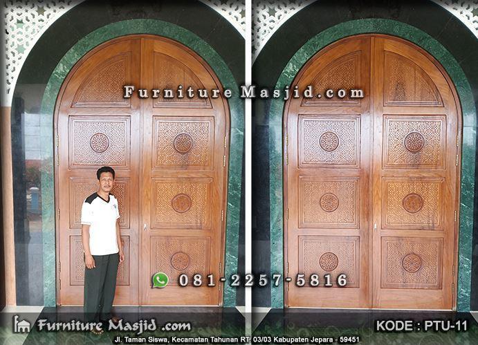 Pintu Masjid Minimalis Kayu Jati | FURNITURE MASJID