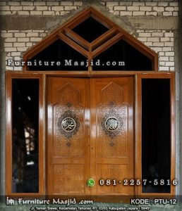 Pintu Masjid Minimalis Modern Kayu Jati
