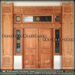 Pintu Depan Masjid Kayu Jati Ukir Jepara