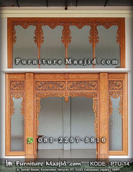 gebyok pintu masjid motif ukir baru