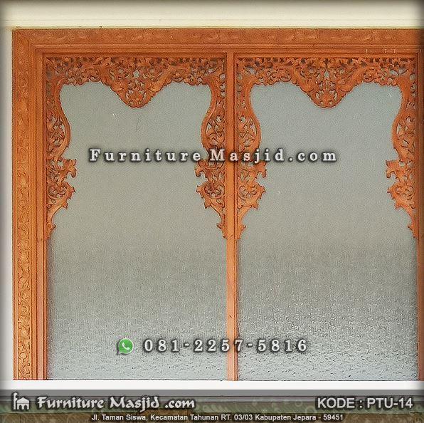 jendela masjid model gebyok