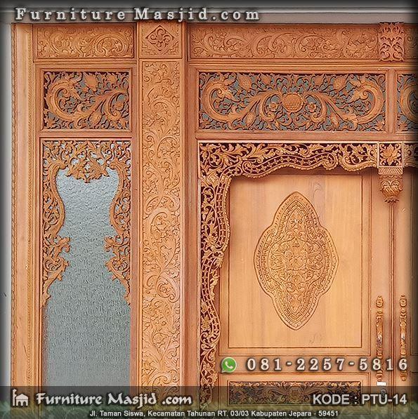 pintu gebyok masjid ukir jepara
