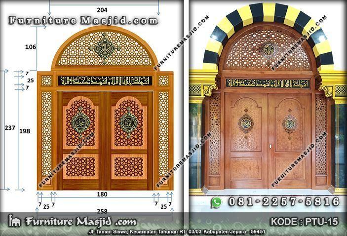 desain pintu masjid minimalis modern