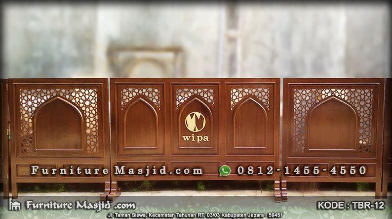 partisi masjid dan mushola dengan logo