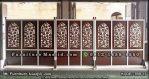 Tabir Masjid Kayu Jati Jepara Ukir Daun