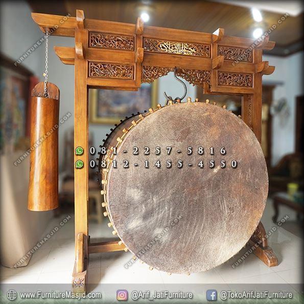 pengrajin bedug masjid kayu jati jepara