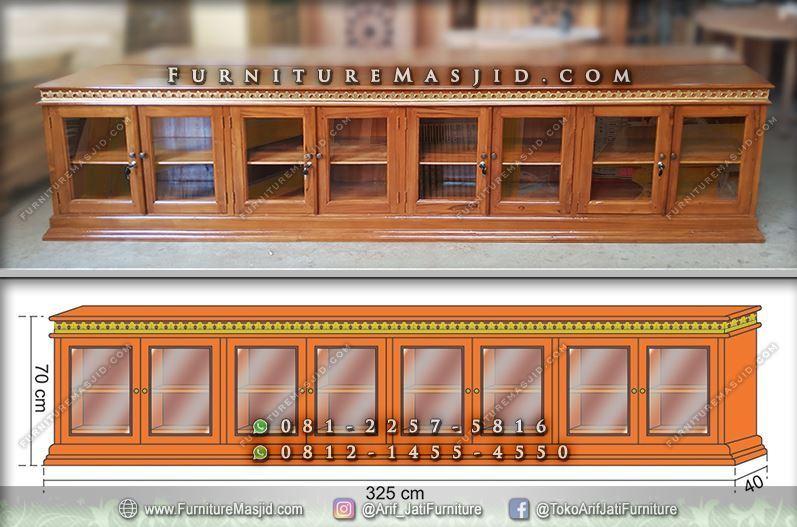 rak lemari alquran dan mukena untuk masjid