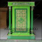 Podium Masjid Minimalis Modern Hijau