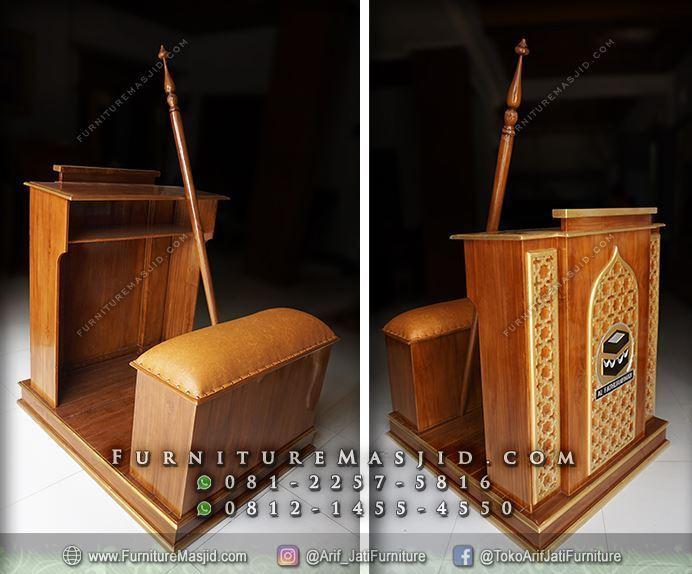 mimbar masjid minimalis logo ka'bah