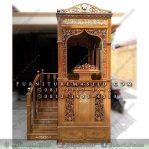 Mimbar Masjid Mewah Logo Bulan Bintang